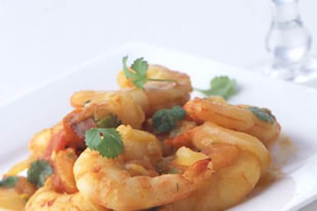 indian inspired shrimp